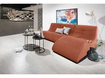 Domo Collection Polstergarnitur, orange, B/H/T: 230x40x63cm, hoher Sitzkomfort
