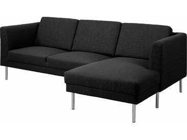 Andas Eckcouch »Christian«, grau, Inkl. Rückenkissen, hoher Sitzkomfort, FSC®-zertifiziert