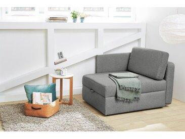 Jockenhöfer Gruppe Single-Sessel mit Schlaffunktion und Bettkasten, grau, B/H/T: 90x43x68cm, hoher Sitzkomfort