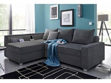 Collection Ab Ottomane mit Schlaffunktion, grau, B/H/T: 223x42x56cm, hoher Sitzkomfort