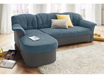 Domo Collection Polstergarnitur mit Bettfunktion, grau, B/H/T: 240x40x50cm, hoher Sitzkomfort