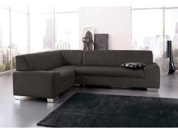 Domo Collection Ecksofa ohne Schlaffunktion, grau, B/H/T: 249x40x51cm