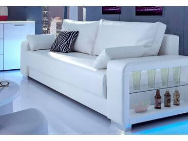Inosign  Schlafsofa 3-Sitzer, weiß, B/H/T: 244x43x55cm, hoher Sitzkomfort