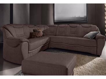 Sit&more Eckcouch mit Bettfunktion, braun, komfortabler Federkern, hoher Sitzkomfort