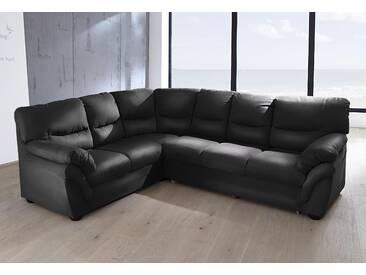 Benformato Home Collection Polstergarnitur, schwarz, Langer Schenkel rechts, B: 268cm, hoher Sitzkomfort