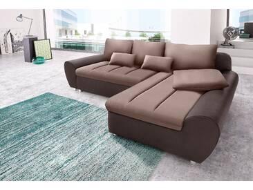 Sit&more Eck-Couch »Bandos« mit Schlaffunktion, beige