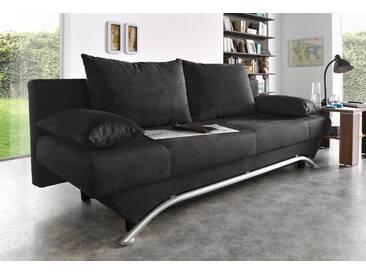 Inosign Schlafsofa, schwarz, B/H/T: 190x39x46cm, hoher Sitzkomfort