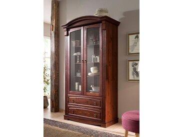 Home Affaire Glasvitrine »Anna«, braun, pflegeleichte Oberfläche, FSC®-zertifiziert