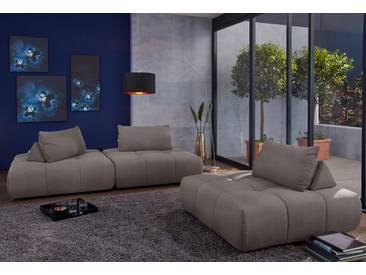 Guido Maria Kretschmer Home&living GMK Home & Living Modul-Polsterecke  »Lyon«, grau, B/H/T: 255x40x78cm, hoher Sitzkomfort
