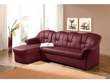 Domo Collection Eck-Sofa ohne Bettfunktion, rot, B/H/T: 235x41x51cm, hoher Sitzkomfort