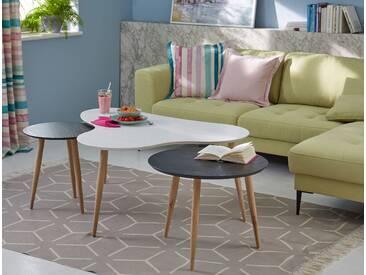 Guido Maria Kretschmer Home&living Couchtisch », mit elegant geschwungener Tischplatte in modernem Design, Breite 120 cm«, weiß, pflegeleichte Oberfläche, FSC®-zertifiziert