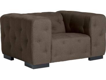 Max Winzer®  Sessel  mit Knopfheftung »York«, beige, B/H/T: 130x41x62cm, hoher Sitzkomfort