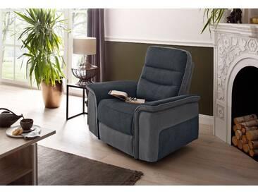 Delavita Relax-Sessel »Maldini«, grau, B/H/T: 109x47x53cm, komfortabler Federkern, hoher Sitzkomfort