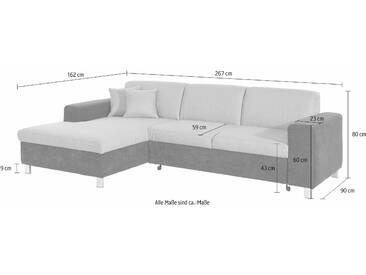 Domo Collection Ecksofa ohne Schlaffunktion, braun, hoher Sitzkomfort, FSC®-zertifiziert
