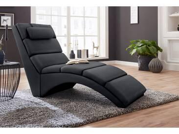 Atlantic Home Collection Relaxliege, schwarz, B/H: 64x41cm, hoher Sitzkomfort