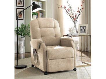 Atlantic Home Collection Fernsehsessel, beige, komfortabler Federkern, hoher Sitzkomfort