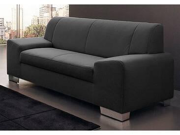 Domo Collection 2-Sitzer, grau, B/H/T: 164x40x51cm