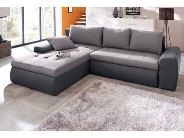 Sit&more Eckcouch, grau, hoher Sitzkomfort