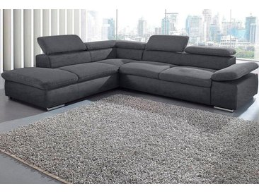 Sit&more Eck-Couch ohne Bettfunktion, grau, FSC®-zertifiziert