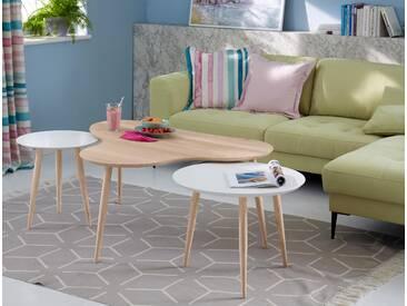 Guido Maria Kretschmer Home&living Couchtisch », mit elegant geschwungener Tischplatte in modernem Design, Breite 120 cm«, beige, pflegeleichte Oberfläche, FSC®-zertifiziert