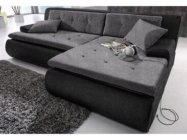 Trendmanufaktur Eck-Sofa ohne Bettfunktion, schwarz, B/H/T: 245x43x66cm