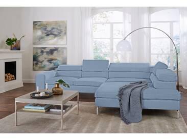 Gallery M Eck-Sofa »Felicia«, blau, 5 Jahre Hersteller-Garantie