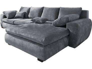 Home Affaire Ecksofa »Cara Mia«, grau, hoher Sitzkomfort