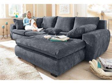 Home Affaire Ecksofa »Cara Mia« ohne Bettfunktion, grau, Microfaser, hoher Sitzkomfort