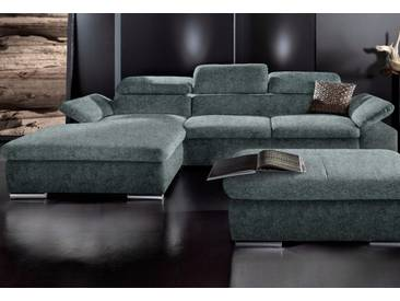 Sit&more Ecksofa, grau, Recamiere links, B/H/T: 283x40x60cm, hoher Sitzkomfort