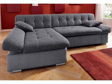 Trendmanufaktur Ecksofa, Recamiere links, grau, B/H/T: 237x44x53cm, hoher Sitzkomfort