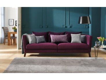 Home Affaire Bigsofa »Kim«, lila, Samtstoff, Inkl. Zierkissen, FSC®-zertifiziert