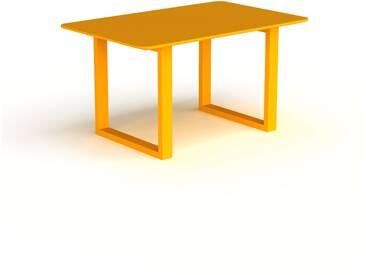 Schreibtisch Massivholz Gelb - Moderner Massivholz-Schreibtisch: Einzigartiges Design - 140 x 75 x 90 cm, konfigurierbar