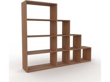 Regalsystem Nussbaum, Holz - Flexibles Regalsystem: Hochwertige Qualität, einzigartiges Design - 193 x 157 x 35 cm, Komplett anpassbar