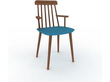 Holzstuhl in Blau 43 x 82 x 53 cm einzigartiges Design, konfigurierbar
