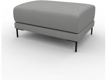 Polsterhocker Schiefergrau - Eleganter Polsterhocker: Hochwertige Qualität, einzigartiges Design - 80 x 42 x 60 cm, Individuell konfigurierbar