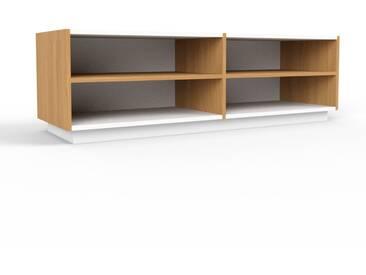 TV-Schrank Eiche, Holz - Moderner Fernsehschrank: Hochwertige Qualität, einzigartiges Design - 152 x 47 x 47 cm, konfigurierbar