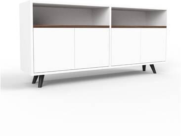 Sideboard Weiß - Designer-Sideboard: Türen in Weiß - Hochwertige Materialien - 152 x 72 x 35 cm, Individuell konfigurierbar