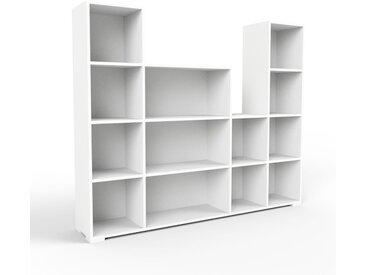 Schallplattenregal Weiß - Modernes Regal für Schallplatten: Hochwertige Qualität, einzigartiges Design - 193 x 158 x 35 cm, Selbst designen