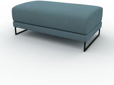Polsterhocker Samt Pastellblau - Eleganter Polsterhocker: Hochwertige Qualität, einzigartiges Design - 100 x 42 x 60 cm, Individuell konfigurierbar