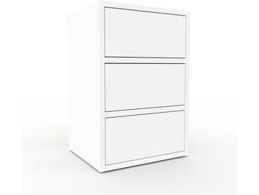 Nachtschrank Weiß - Eleganter Nachtschrank: Schubladen in Weiß - Hochwertige Materialien - 41 x 61 x 35 cm, konfigurierbar