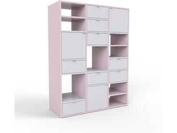 Highboard Altrosa - Highboard: Schubladen in Lichtgrau & Türen in Lichtgrau - Hochwertige Materialien - 118 x 157 x 47 cm, Selbst designen
