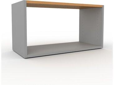 Regalsystem Grau - Flexibles Regalsystem: Hochwertige Qualität, einzigartiges Design - 77 x 41 x 35 cm, Komplett anpassbar