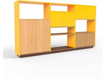 Highboard Gelb - Elegantes Highboard: Türen in Gelb - Hochwertige Materialien - 226 x 124 x 35 cm, Selbst designen