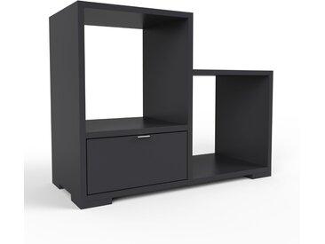 Schallplattenregal Schwarz - Modernes Regal für Schallplatten: Schubladen in Schwarz - 79 x 62 x 35 cm, Selbst designen