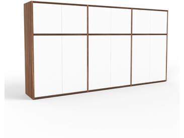 Highboard Nussbaum - Elegantes Highboard: Türen in Weiß - Hochwertige Materialien - 226 x 118 x 35 cm, Selbst designen