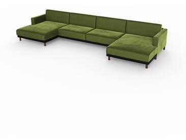 Sofa Olivgrün - Moderne Designer-Couch: Hochwertige Qualität, einzigartiges Design - 424 x 75 x 162 cm, Komplett anpassbar