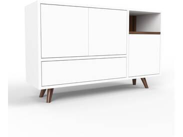 Sideboard Weiß - Sideboard: Schubladen in Weiß & Türen in Weiß - Hochwertige Materialien - 116 x 72 x 35 cm, konfigurierbar