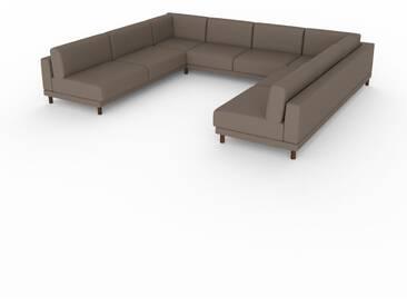 Wohnlandschaft Graubraun - Flexible Designer-Wohnlandschaft: Hochwertige Materialien, einzigartiges Design - 348 x 75 x 294 cm, Konfigurator