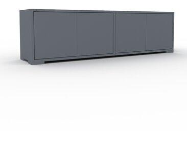 Lowboard Anthrazit - Designer-TV-Board: Türen in Anthrazit - Hochwertige Materialien - 152 x 43 x 35 cm, Komplett anpassbar