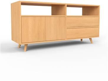 TV-Schrank Buche - Fernsehschrank: Schubladen in Buche & Türen in Buche - 152 x 72 x 47 cm, konfigurierbar